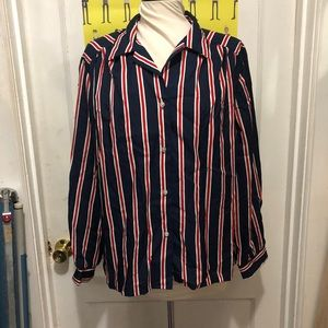 Vintage Striped Button Up Blouse by Katos